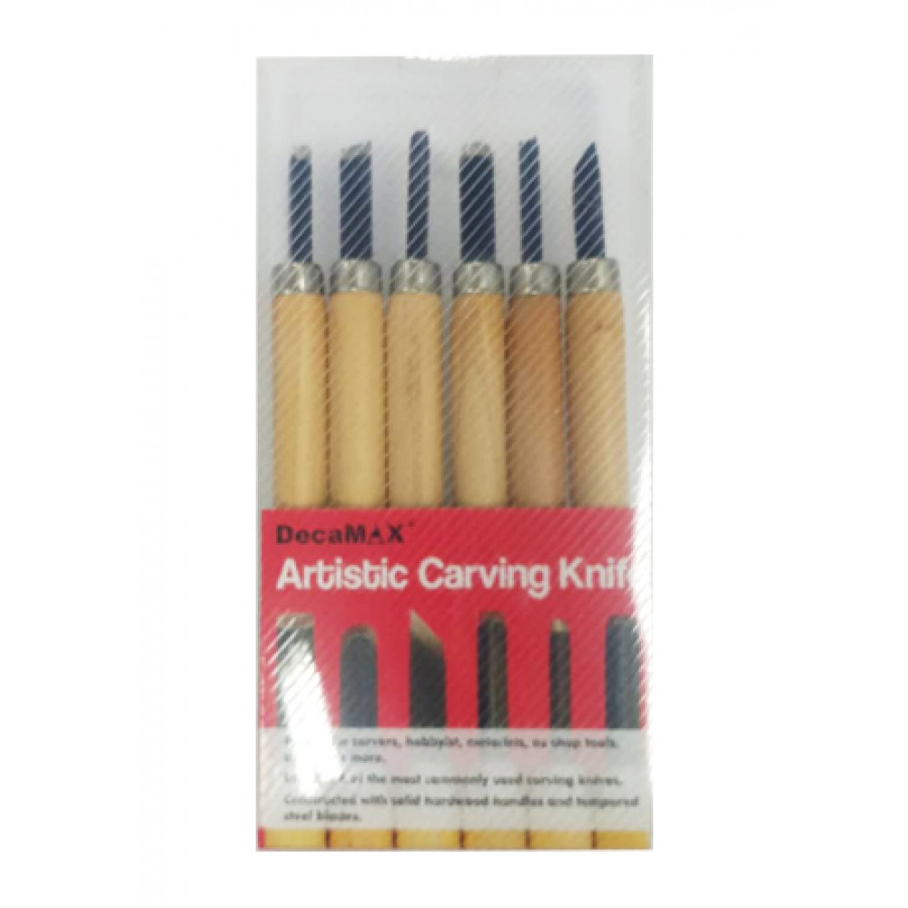 DECAMAX ARTISTIC CARVING KNIFE 6'S