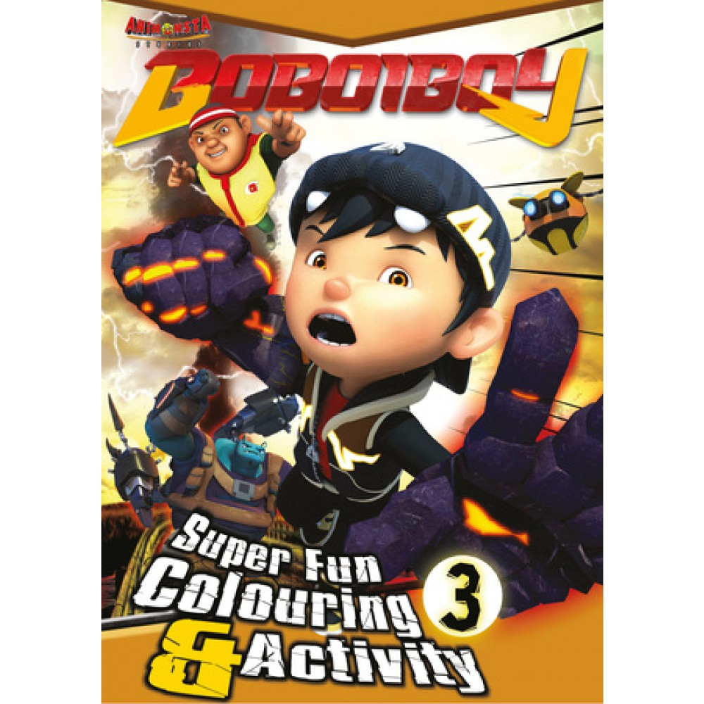 BOBOIBOY COLOURING VALUE PACK 4 (WITH COLOUR PENCILS)