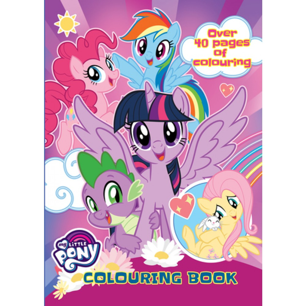 MY LITTLE PONY ACTIVITY & COLOURING BOOK SET (WITH ACTIVITY PAD & COLOUR PENCIL)