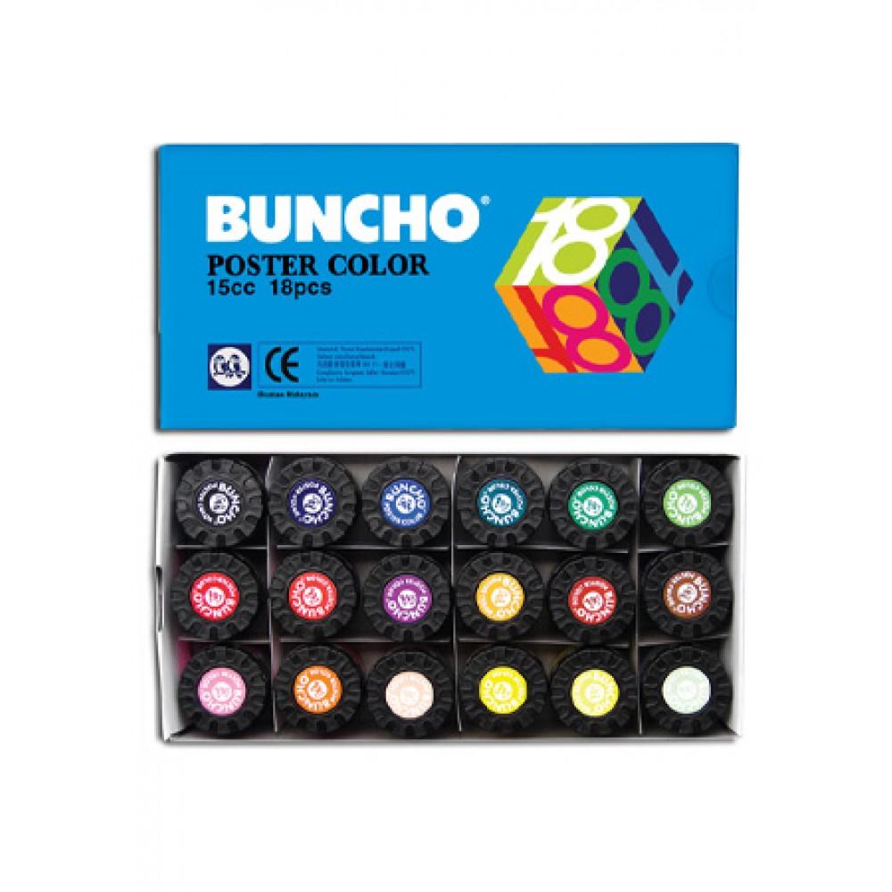 BUNCHO POSTER COLOUR 15CC - 18 COLOURS