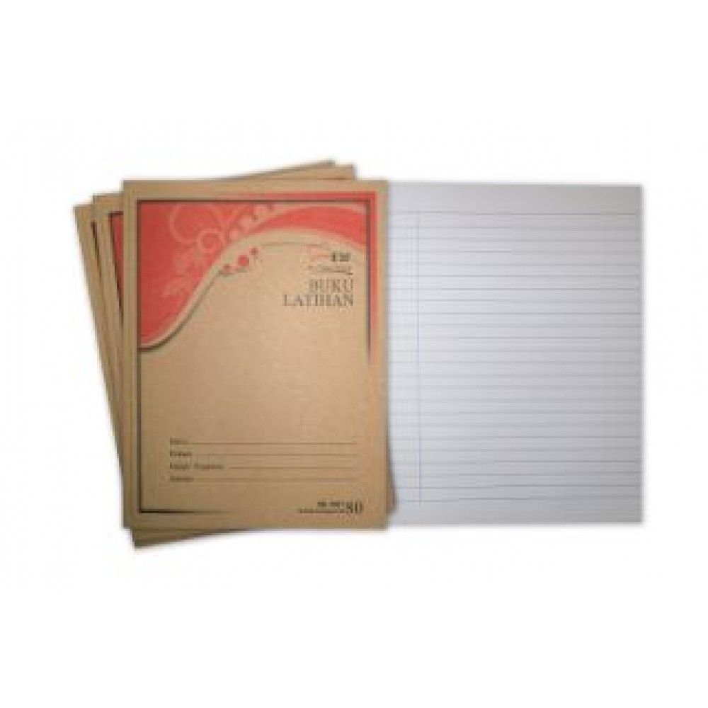 UNI Kraft Cover Exercise Book 80 Pages Single Line