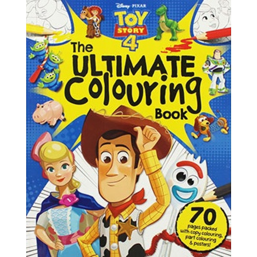 - Disney Pixar Toy Story 4 Ultimate Colouring Book