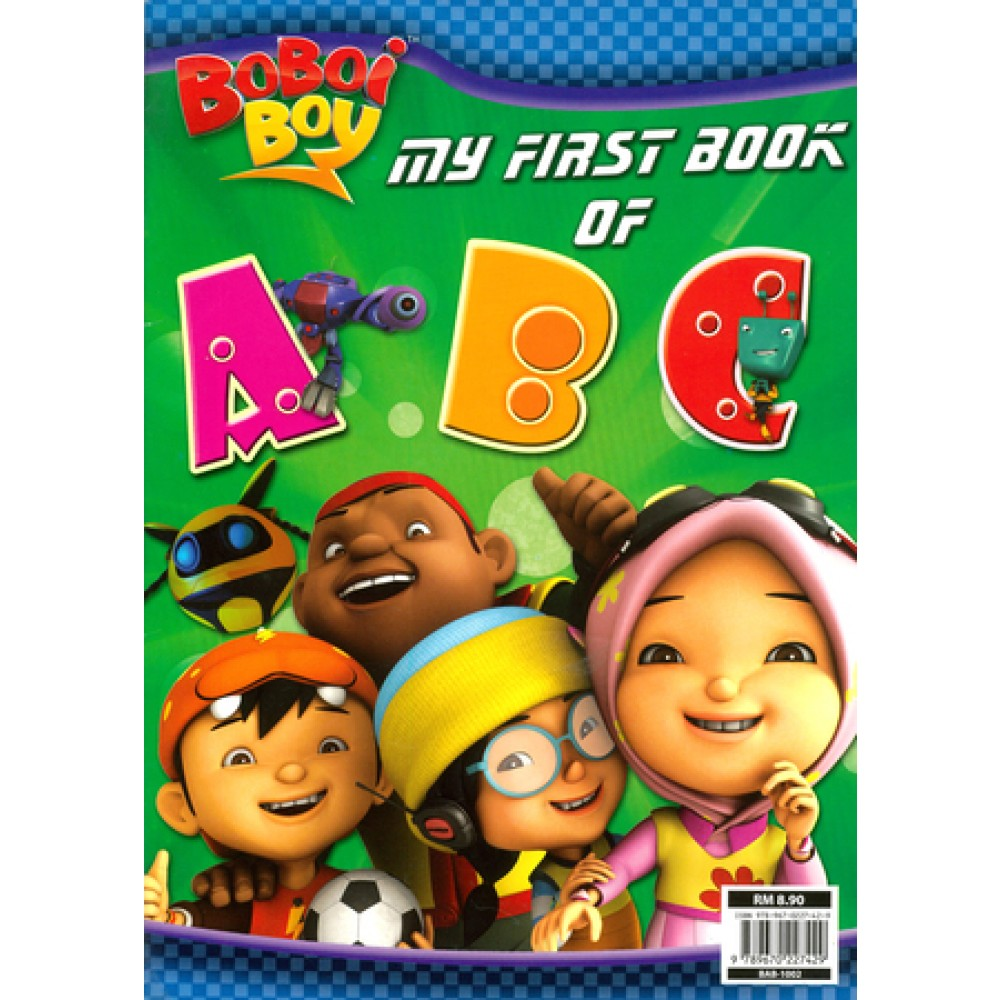 BOBOIBOY MY FIRST BOOK OF ABC (WITH COLOUR PENCILS)