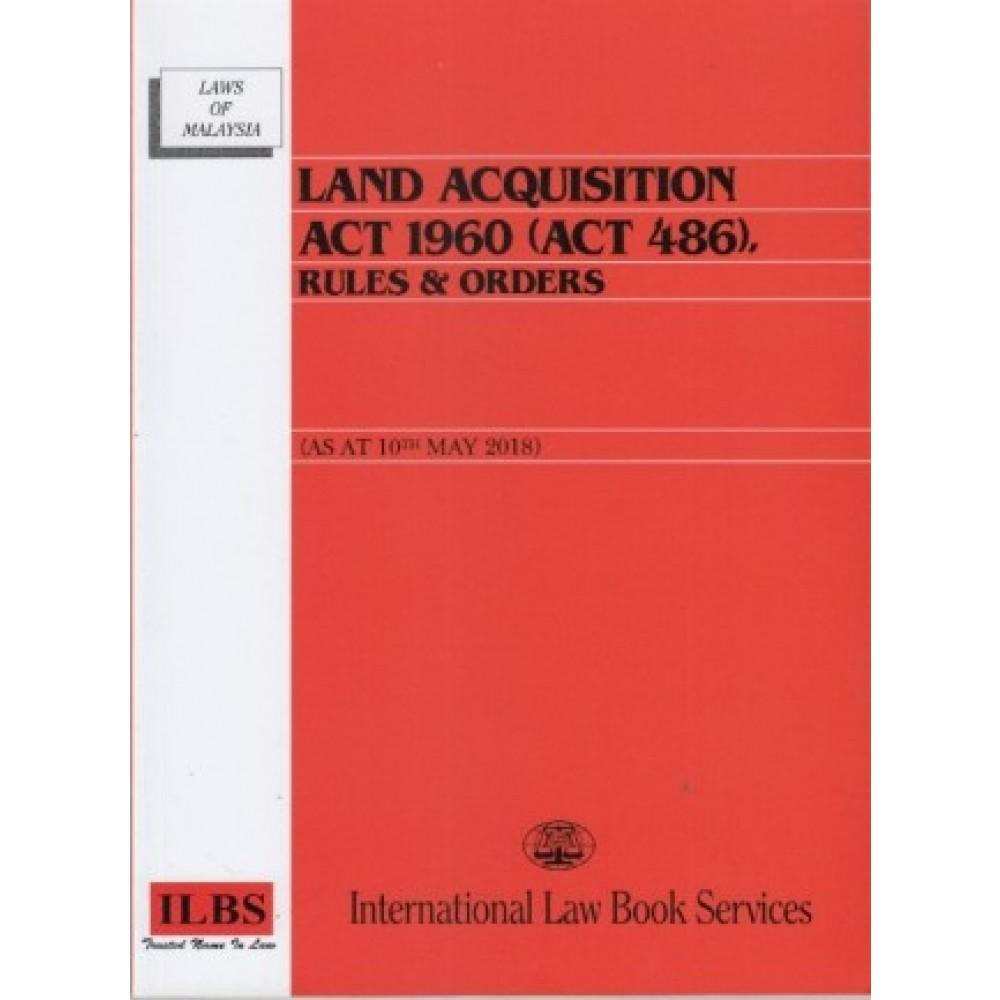 Land Acquisitin Act 1960 Act 486 Law Statutes English Books