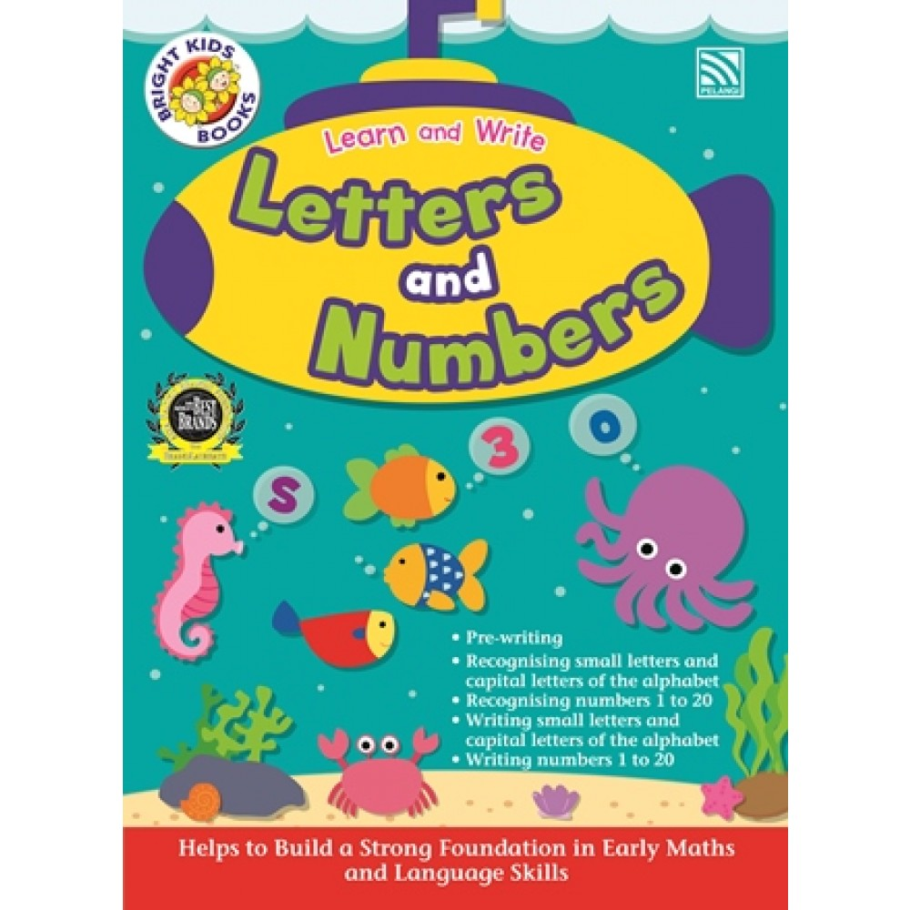 BRIGHT KIDS BOOKS - LEARN AND WRITE LETTERS AND NUMBERS