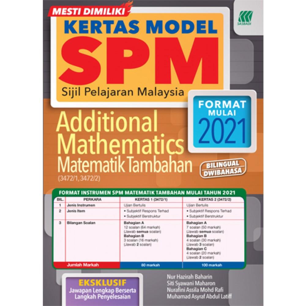 KERTAS MODEL SPM MATEMATIK TAMBAHAN(BILINGUAL)