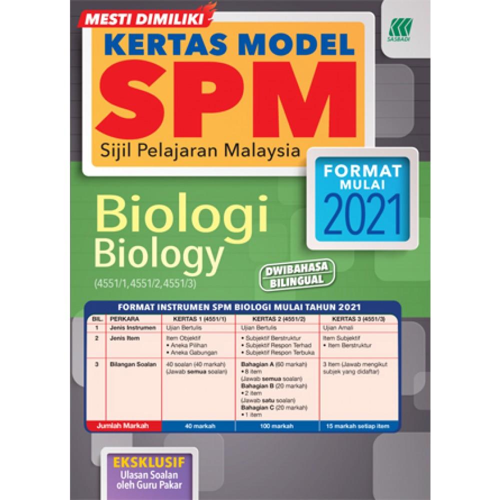 KERTAS MODEL SPM BIOLOGI(BILINGUAL)