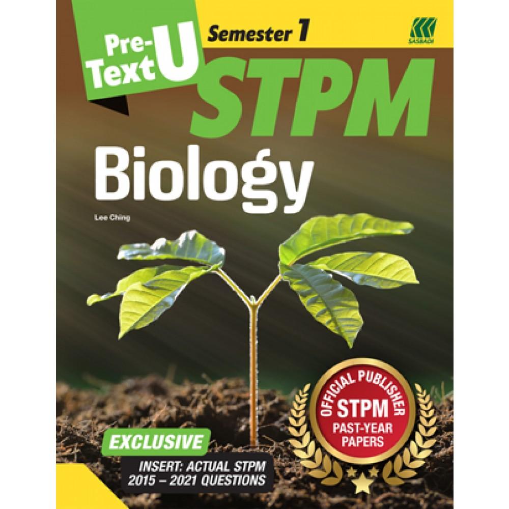 Teks PRA-U STPM Semester 1 Biology (Edisi 2022)