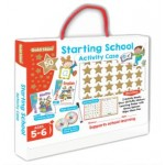 GOLD STARS STARTING SCHOOL PUFFY STICKER ACTIVITY CASE