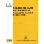 SELANGOR LAND RULES 2003