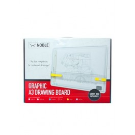 NOBLE A3 DRAWING BOARD C/W STRAIGHTEDGE