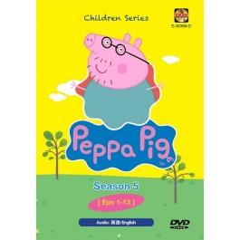 PEPPA PIG SEASON 5 EP1-13 (DVD)