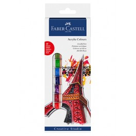 Faber-Castell Creative Studio Acrylic Colours 12ml - 12 Colours