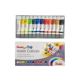 PENTEL ARTS WATER COLOURS - 12 COLOURS TUBE