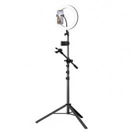 MCDODO TB798 LIVE BROADCAST SELFIE RING LIGHT WITH TRIPOD STAND & MICROPHONE HOLDER