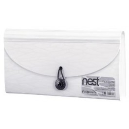 FOLDERMATE NEST SERIES EXPANDING FILE CHEQUE SIZE 13 POCKETS - WHITE