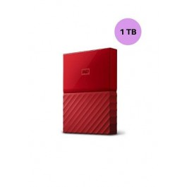 WESTERN DIGITAL HARD DISK 1TB MY PASSPORT RED
