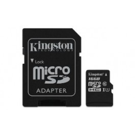 KINGSTON MEMORY CARD 16GB ULTRA MICROSD 80MB/S