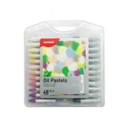 MONAMI OIL PASTELS - 48+2 COLOURS PP CASE