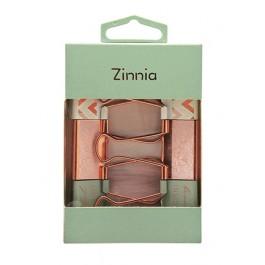 ZINNIA ROSE GOLD- PLATED BINDER CLIPS 32MM, 6PCS