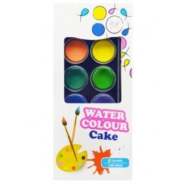 POP ARTZ WATER COLOUR CAKE WITH BRUSH 12 COLOURS