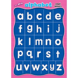 LET'S WRITE-ALPHABET SMALL LETTERS
