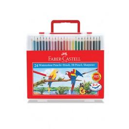 Faber-Castell Watercolour Pencils - 24 Colours Wonder Box