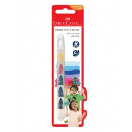 FABER-CASTELL PERFECT BODY CRAYONS - 6 COLOURS