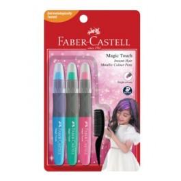 FABER-CASTELL MAGIC TOUCH HAIR COLOUR PEN-METALLIC 3'S