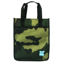 POP KIDS TUITION BAG WITH ZIP 28*12*33CM CAMOUFLAGE GREEN
