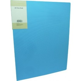 POP BAZIC DISPLAY BOOK A4 40 POCKETS LIGHT BLUE