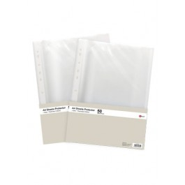 POP BAZIC SHEET PROTECTOR A4 CLEAR 50 SHEETS