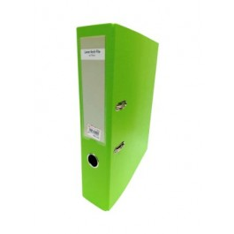"""POP BAZIC COLOUR LEVER ARCH FILE WITH INDEX A4 3"""" LIME GREEN"""