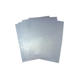 POP BAZIC BUTTON POCKET FILE A4 6 PIECES TRANSPARENT WHITE