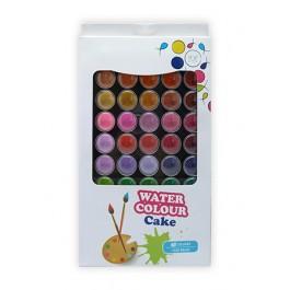 POP ARTZ WATER COLOUR CAKE WITH BRUSH 48 COLOURS