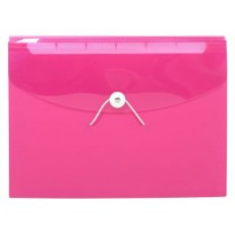 POP BAZIC PP EXPANDING FILE A4 13 POCKETS PINK