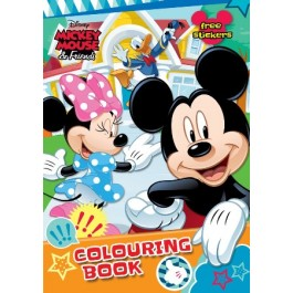 MICKEY COLOURING BOOK SET(WITH STICKER & COLOUR PENCIL)