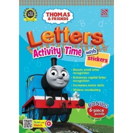 THOMAS & FRIENDS : LETTERS ACTIVITY TIME WITH STICKERS