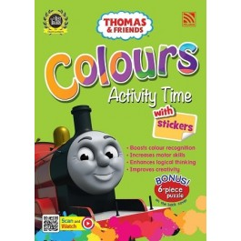 THOMAS & FRIENDS : COLOURS ACTIVITY TIME WITH STICKERS