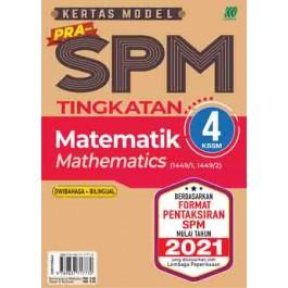 TINGKATAN 4 KERTAS MODEL PRA-SPM MATEMATIK (BILINGUAL)