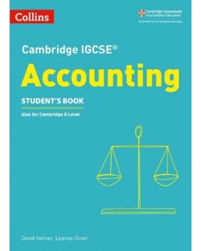 Cambridge IGCSE Accounting Student Book Revision Books