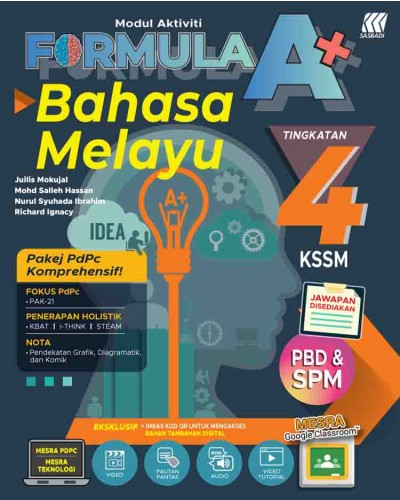 Tingkatan 4 Modul Aktiviti Formula A Kssm Bahasa Melayu