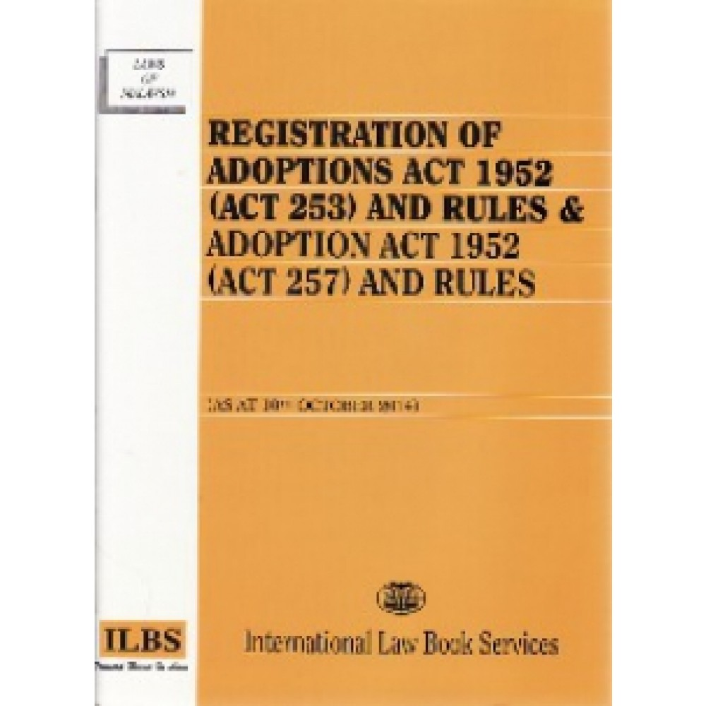 REGISTRATION OF ADOPTIONS ACT 1952