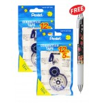 PENTEL CORRECTION TAPE 5MMX12M 2'S (WITH FREE GIFT)