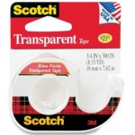 3M SCOTCH TRANSPARENT TAPE 157S WITH TAPE DISPENSER 19MM X 7.62M