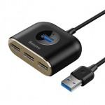 BASEUS CAHUB-AY01 USB3 TO 1USB3+4USB 1Metre BLACK