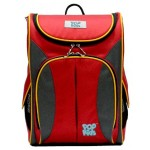 POP KIDS SCHOOL BAG - ACTIVE 3 RED GRAY