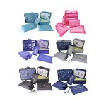 TRAVEL LUGGAGE ORGANIZER BAG SET OF 6 (RANDOM COLOUR)
