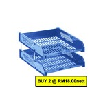 POP BAZIC  2 TIER PP LETTER TRAY BLUE