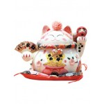 CERAMIC LUCKY CAT HOME DECOR 19*10*14CM